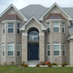 Asphalt Shingles With Gray Cobblestone