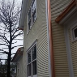 Cedar Siding With Copper Gutters