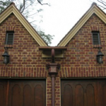 Brick Home With Cooper Gutters