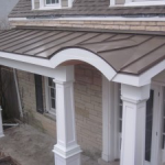 24 Gauge Porch Metal Roofing with Columns