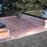 Copper Flat Roof With Skylights