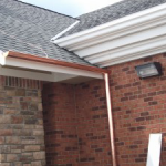 Chicago Half Round Copper Gutters