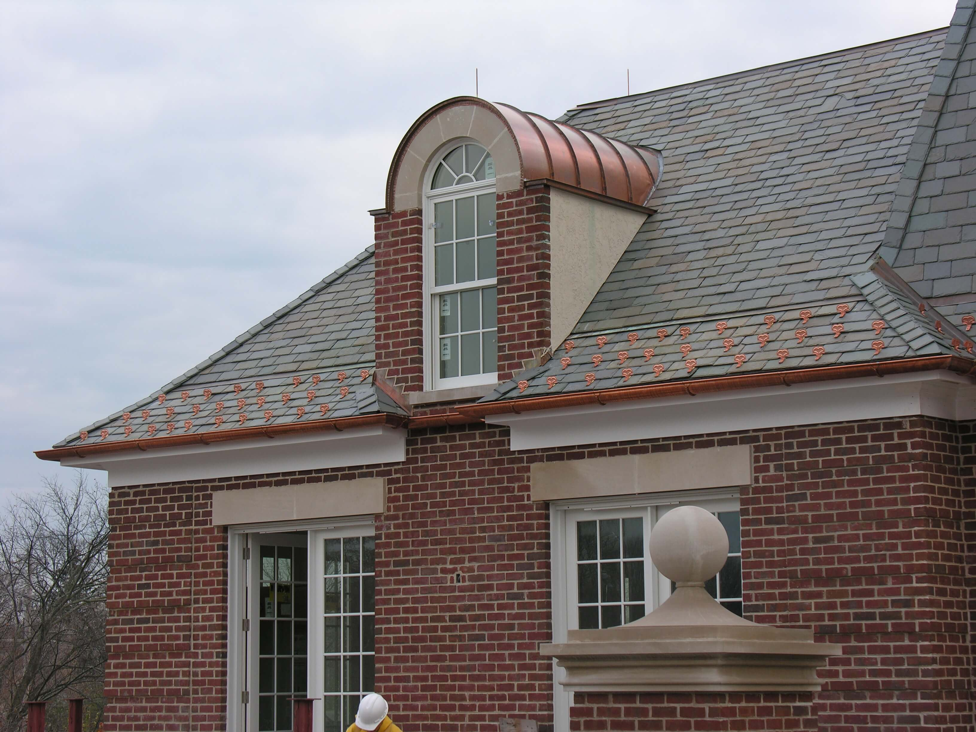 Copper Roof Gutters